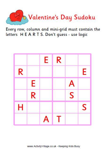 valentine word sudoku medium