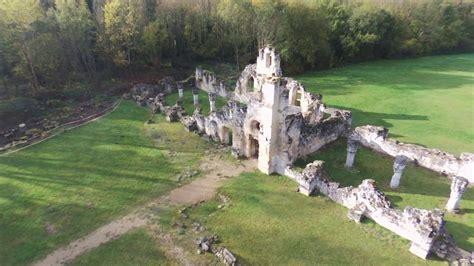ruine abbaye de vauclair drone parrot bebop  youtube