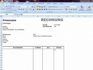 Vorlage Rechnung Excel : rechnung ~ Themetempest.com Abrechnung