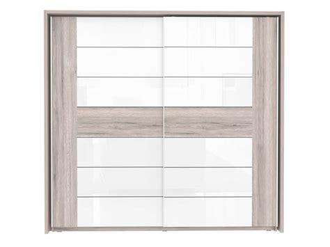 miroir mural chambre armoire 2 portes coulissantes dolce coloris chêne cendré