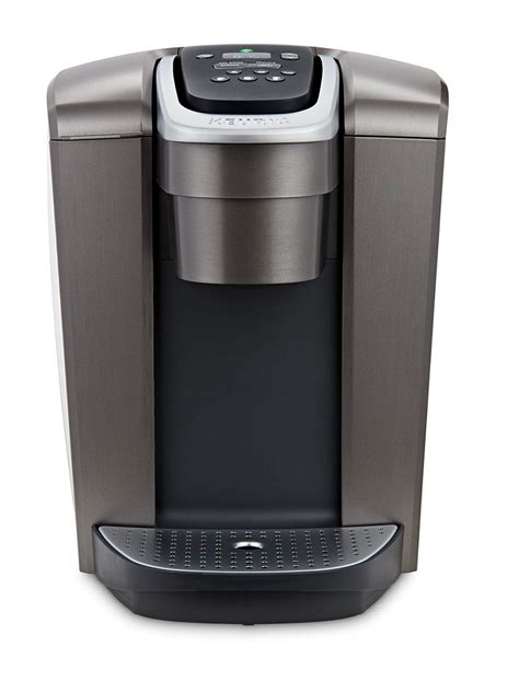 With a striking brushed finish and metal details, it's a stylish addition to any kitchen. 352-0720 Keurig K-Elite Coffee Maker Brushed Slate - Living Waters Christian Book & Toy Store