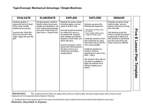 Simple Machines Mechanical Advantage Worksheet Free Worksheets Library  Download And Print