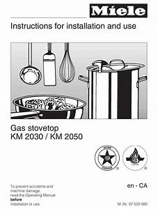 Miele Km 2030 Instructions For Installation And Use Manual