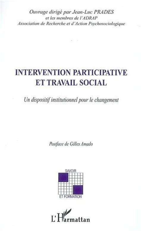 changement si e social association livre intervention participative et travail social un