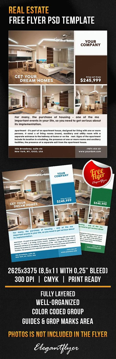 Real Estate Brochure Templates Psd Free by Flyer Template Photoshop Real Estate
