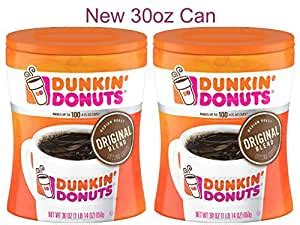And while doughnuts aren't growing, coffee is still hot. Amazon.com : Dunkin' Donuts Original Blend Medium Roast Ground Coffee, 30 oz Can 2-Pack ...