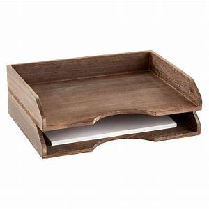 Feathergrain wooden stackable letter tray the container for Stacking letter trays