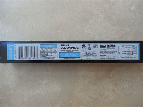 t8 ballast 2 l lots of 8 philips advance centium icn 2p32 n t8 ballast