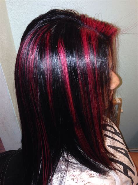 Best Ideas About Red Violet Highlights Color Highlights