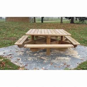 Table Bois Pique Nique : table pour aire d 39 autoroute table pour aire de repos table foresti re en bois ~ Melissatoandfro.com Idées de Décoration