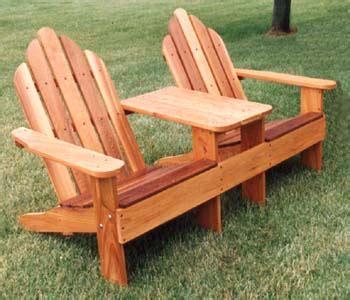 outdoor furniture tete  tete adirondack plan workshop