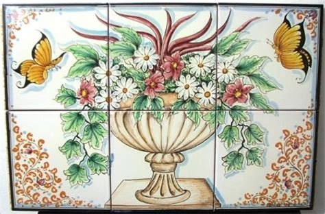 piastrelle artistiche errore flower basket and pottery