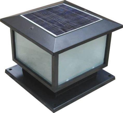 china led solar energy pillar light gate light garden