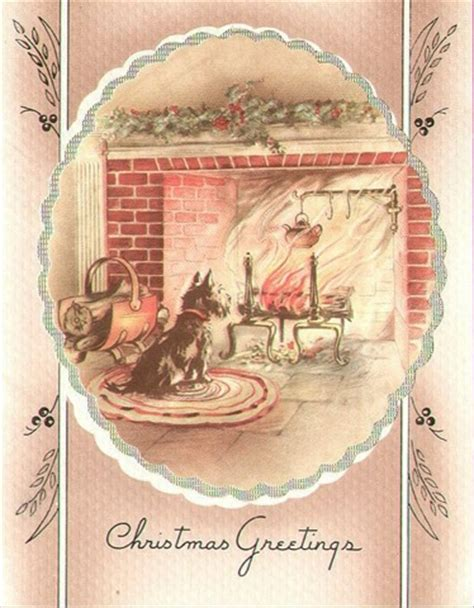 old fashioned christmas cards fireplaces on pinterest