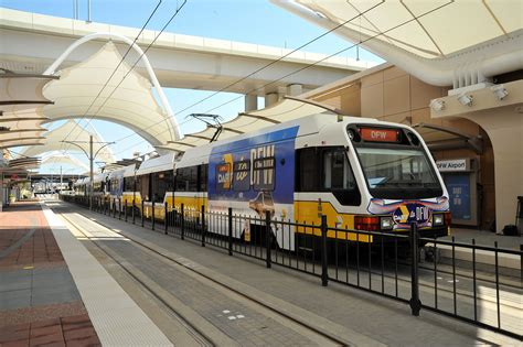 dallas light rail dart to dfw see photos from the airport station launch