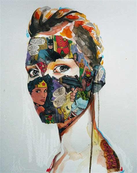 modern day pop chevrier pop fashion illustrations and mixed media