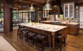 rustic kitchen islands with seating 46 fabulous country kitchen designs ideas