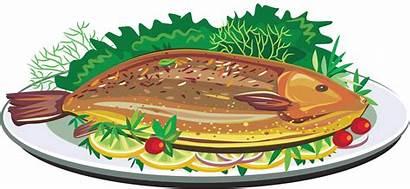 Fish Clipart Fried Clip Dish Foods Transparent
