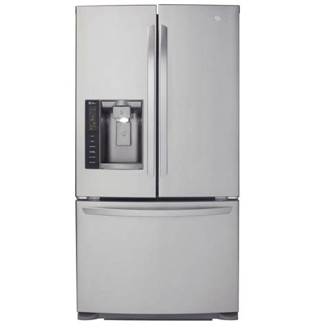 stainless steel door refrigerator lg electronics 24 1 cu ft door refrigerator in