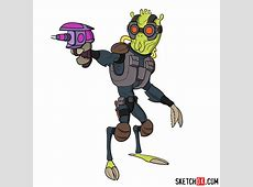 How to draw Krombopulos Michael Step by step drawing