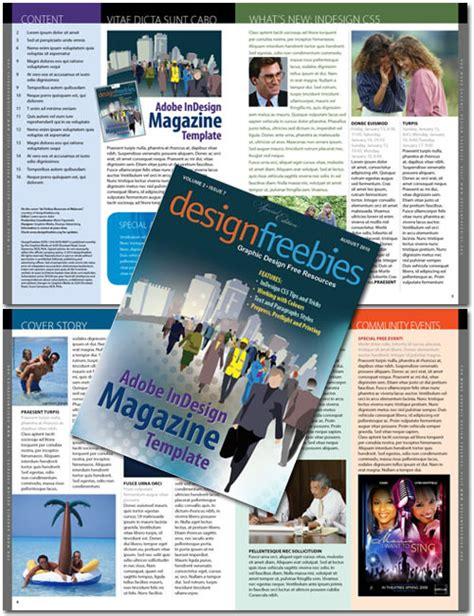 indesign magazine 10 free indesign templates for print projects 4over4