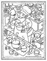 Cooking Coloring Pages Kitchen Pizza Utensils Santa Preschool Drawing Getcolorings Printable Tools Yummy Christmas Getdrawings sketch template