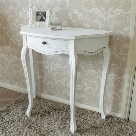shabby chic half moon table white wooden half moon table shabby french chic country living room hallway ebay