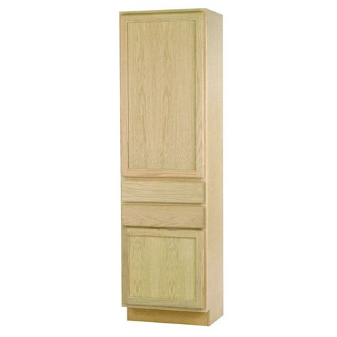 home depot unfinished kitchen base cabinets 24x84x18 in pantry cabinet in unfinished oak dduc2418ohd