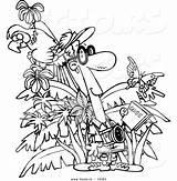 Jungle Toonaday Vecto Leishman sketch template