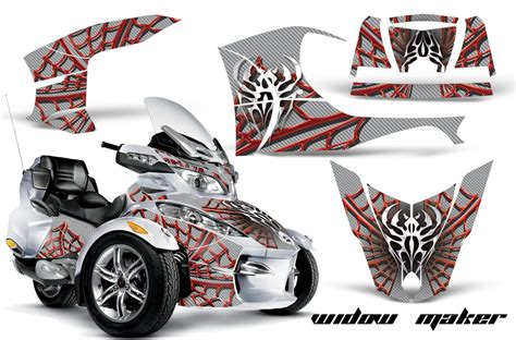 ck silver can am brp rts spyder graphic kit 2010 2012