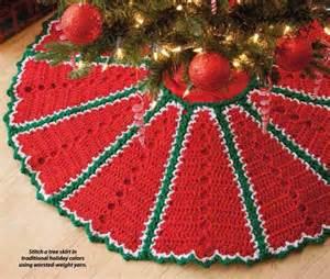 y912 crochet pattern only traditional holiday christmas tree skirt beadedbundles craft