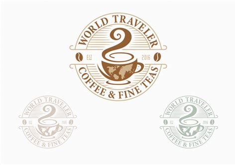 More world traveler coffee roaster's mission is to share the amazing world of high quality coffee.in part, we achieve this by using the highest quality coffee roaster.we use the cast iron giesen coffee roaster that is hand constructed in the netherlands to roast our beans and bring out the full characteristics of each coffee.it takes up to three months to hand construct these top quality. Logo for Coffee Shop by EDPS1