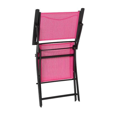 fauteuil de jardin pliant modula framboise noir chaise
