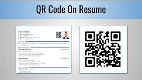 Code Sle Resume by Qr Code On Resume All That You Need To