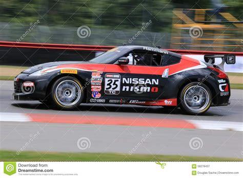 nissan nismo race car pro nissan 370z race car on the course editorial
