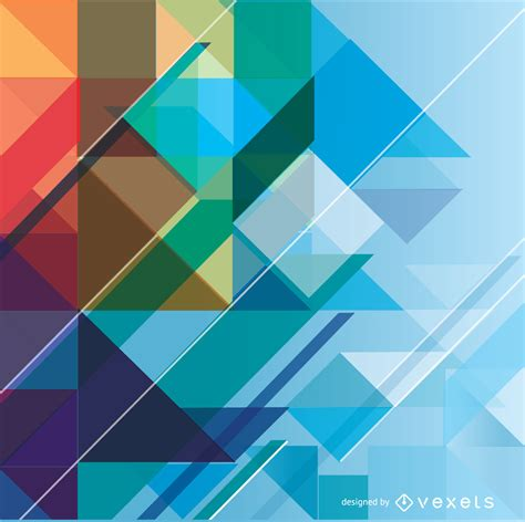 Abstract Colorful Geometric Shapes Background by Abstract Geometric Colorful Background Vector