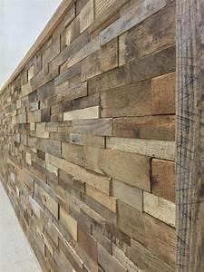 reclaimed barn wood stacked wall panels diy reclaimed With barnwood veneer