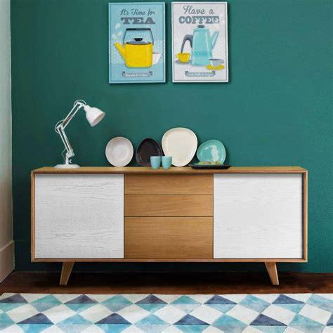 bureau couleur miel buffet design scandinave brin d 39 ouest
