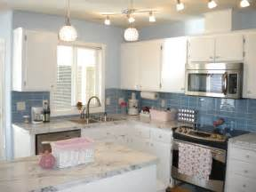 blue tile kitchen backsplash kitchen update with sky blue glass tile white counters and white cabinets subway tile