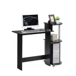 furinno compact computer desk expresso black 22 55