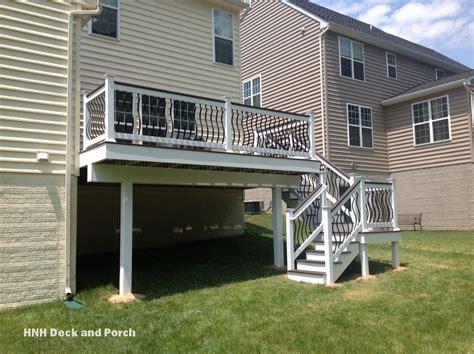 deck railing gallery hnh deck  porch llc