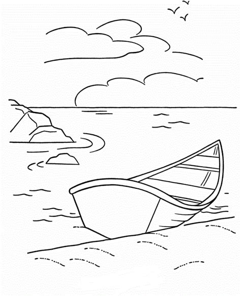 Motor Boat Outline by Boat Outline Coloring Home