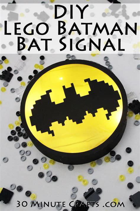 lego batman  craft diy bat signal  minute crafts