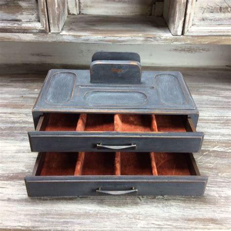 rustic gentlemens tray vintage valet box mens
