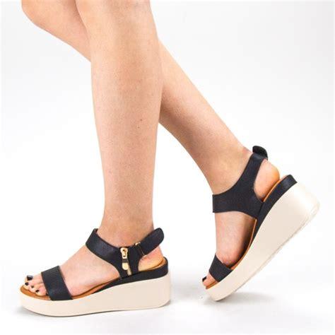Sandale Dama cu Platforma QZL226 Black » MeiMei.Ro
