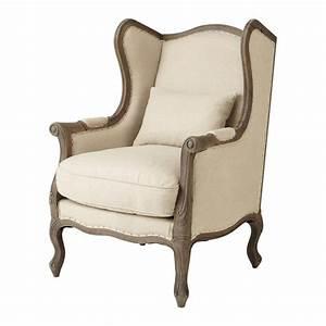 Fauteuil Crapaud Maison Du Monde : fauteuil berg re lin manoir maisons du monde ~ Melissatoandfro.com Idées de Décoration