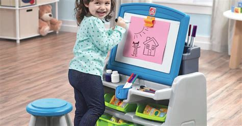 Step 2 Writing Desk by Kohl S Step2 Flip Doodle Easel Desk Stool Only 35 99
