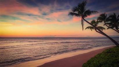 Sunset Ocean Coast Carmen Playa Familie Desktop