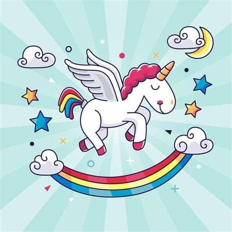 Download 8,777 unicorn free vectors. Hand drawn kawaii unicorn background   Free Vector # ...