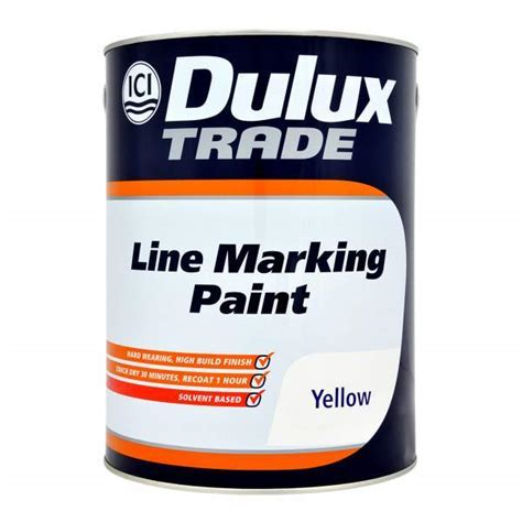 Dulux Trade Line Marking Paint Yellow 5L